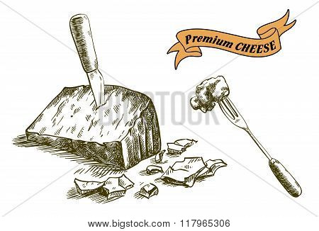natural cheese sketches