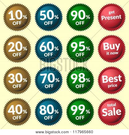 Sale Signs Colorfull