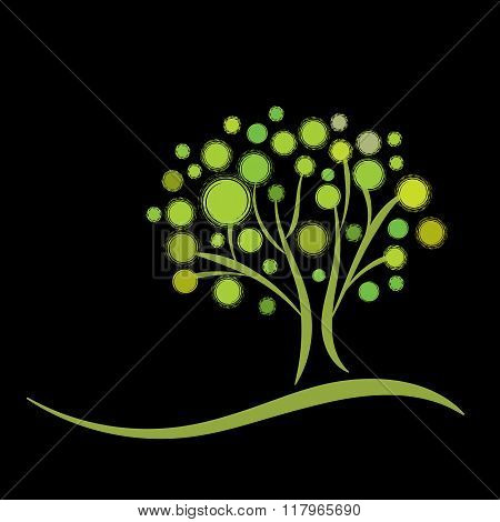 Stylized green tree
