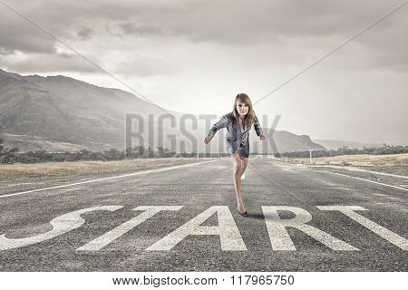 She is ready to run this race