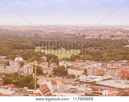 Leipzig Aerial View Vintage