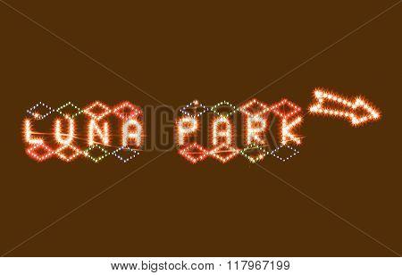 Luna Park Sign Vintage