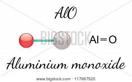 AlO aluminium monoxid molecule
