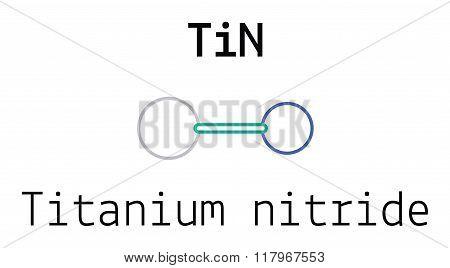 TiN titanium nitride molecule