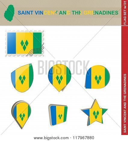 Saint Vincent And The Grenadines Flag Set, Flag Set