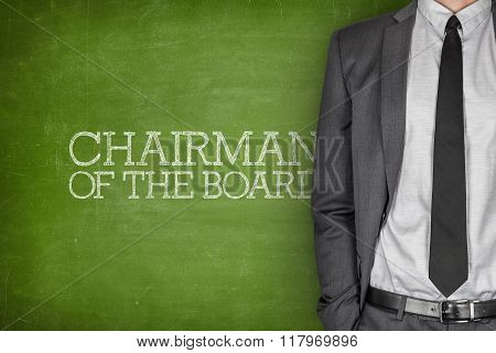 Chairman of the board on blackboard