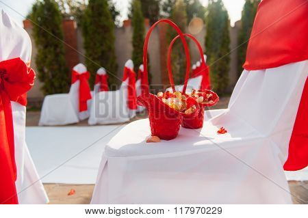 chair set for wedding, another catered event or visiting ceremony