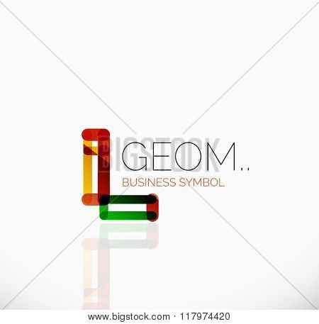 Logo, linear abstract geometric icon