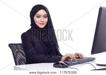 Corporate Working Woman With Suit