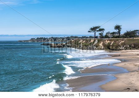 The coast along Santa Cruz, California