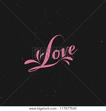 Love retro label