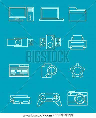 PC line icons