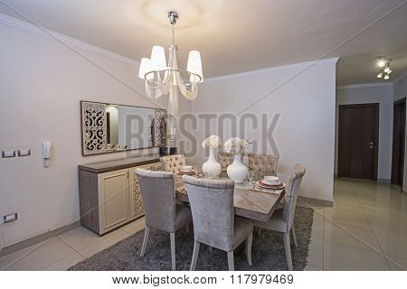 Interior Of A Luxury Apartment Dining Room