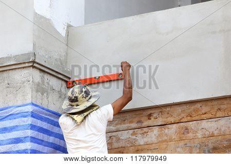 Spirit Level Using For Home Construction