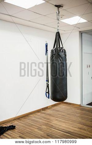 Punching bag in studio