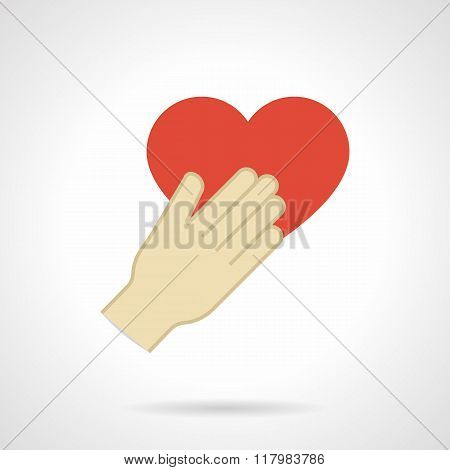 Flat design love proposal vector icon