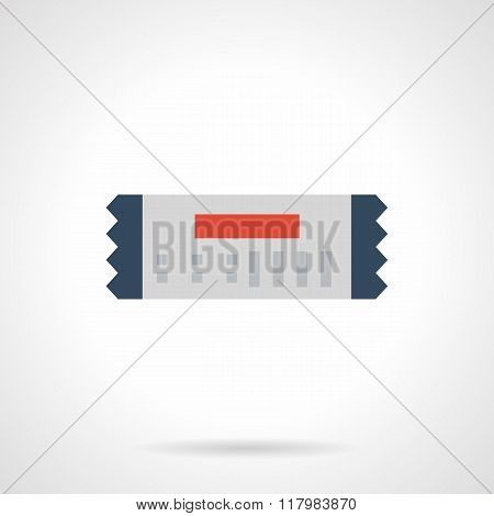 Gift coupon flat color design vector icon