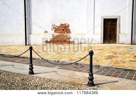 Italy  Lombardy     In  The Santo Antonino  Old   Church    Tower Step    Wall