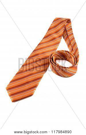 Orange Tie On White