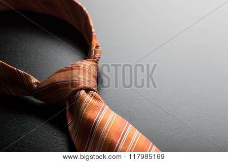 Orange Tie Close-up
