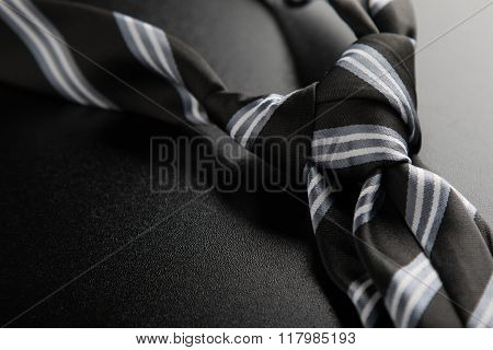 Tie Knot With Stripes