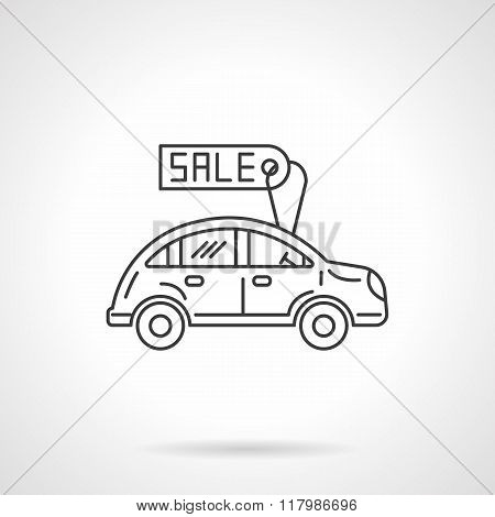 Sale automobile icon flat line design vector icon