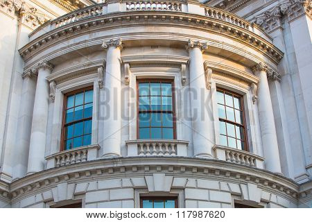LONDON, UK - OCTOBER 4, 2016: Her Majesty's Treasury building