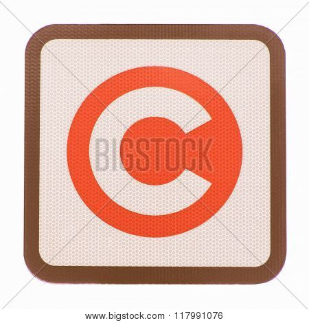 London Congestion Charge Sign Vintage