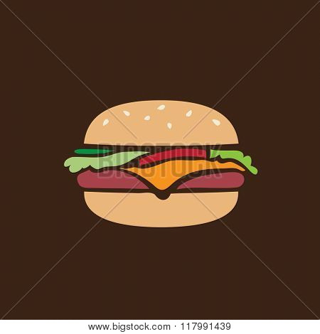 Hamburger retro icon