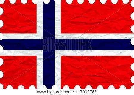 Wrinkled Paper Svalbard Stamp