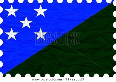Wrinkled Paper Solomon Islands Stamp