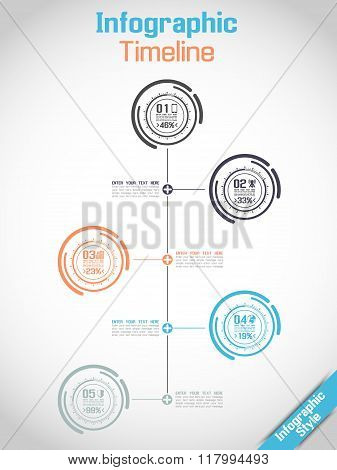 Infographic Timeline Modern Concept Tecnology