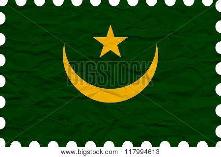 Wrinkled Paper Mauritania Stamp