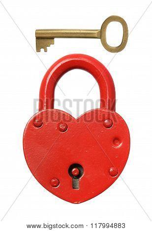 Padlock And Key.