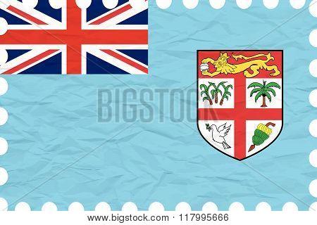 Wrinkled Paper Fiji Stamp