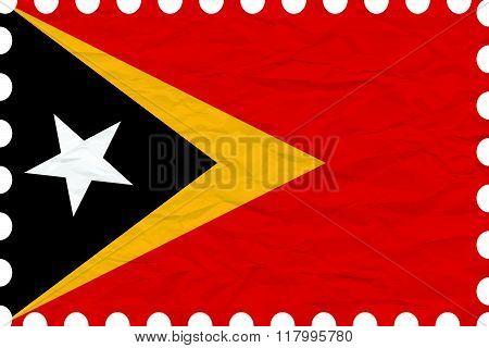 Wrinkled Paper East Timor Stamp