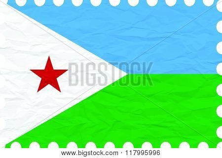 Wrinkled Paper Djibouti Stamp