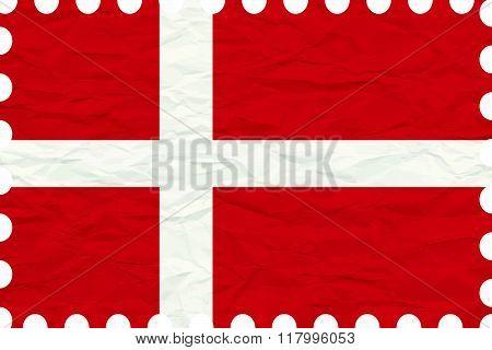Wrinkled Paper Denmark Stamp