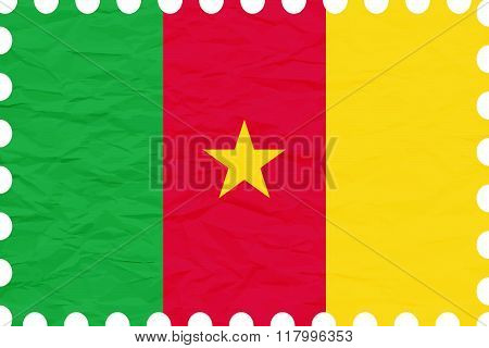 Wrinkled Paper Cameroon Stamp