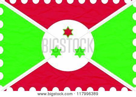 Wrinkled Paper Burundi Stamp