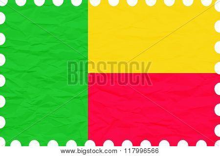 Wrinkled Paper Benin Stamp