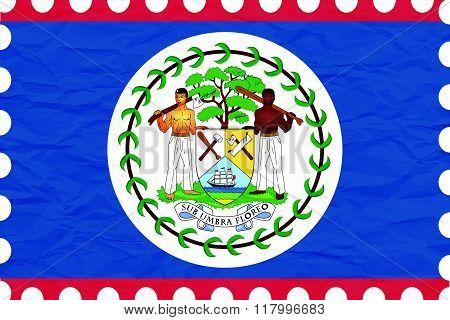 Wrinkled Paper Belize Stamp