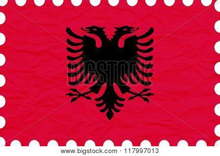 Wrinkled Paper Albania Stamp