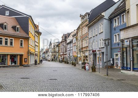 People In Pedestrian Zone In Old Town Of Rudolstadt