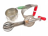 foto of flour sifter  - a collection of kitchen gadgets for a cook - JPG