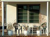 Front Porch In An Apartment Condominium Complex
