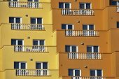 Touristic balconies poster