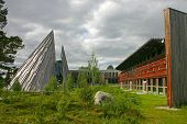 stock photo of tipi  - The Sami Parliament of Norway  - JPG