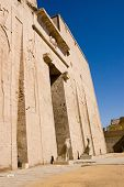 picture of horus  - An inner pylon of the Temple of Horus at Edfu - JPG