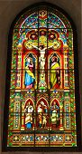 foto of crucifiction  - a window in a church  - JPG